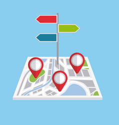pointers map navigation direction localization vector image