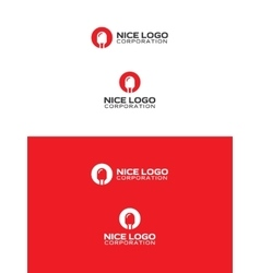 Red led logo vector