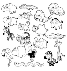 Savannah animal family vector image