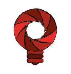 Shutter camera symbol vector