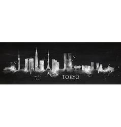 Silhouette chalk Tokyo vector image vector image
