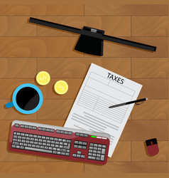 tax top view vector image