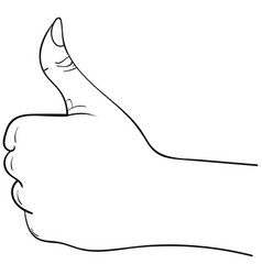 thumbs up hand symbol on a white background vector image