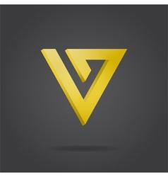 V letter logo vector image vector image