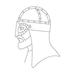 Viking in helmet vector