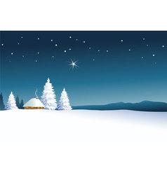 Winter rural landscape vector image