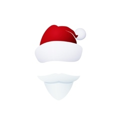 Santa Face Isolated on White vector image