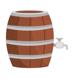 beer wooden barrel icon vector image