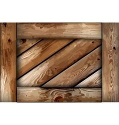 Grunge wooden box background vector