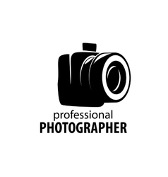 Logo camera the photographer vector