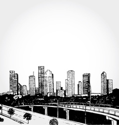 Sketch of a big city vector