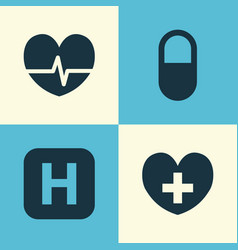 Medicine icons set collection of hospital pellet vector