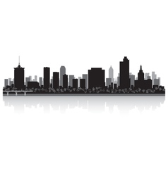 Tulsa usa city skyline silhouette vector