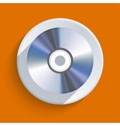 disc icon on orange background Eps10 vector image