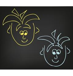 2 boys vector image vector image