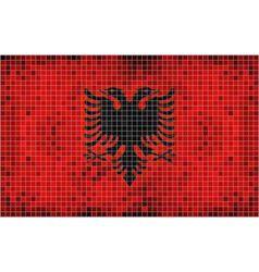 Flag of albania - mosaic vector