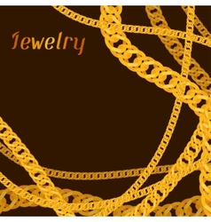 Background design with beautiful jewelry gold vector