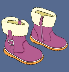 Kid winter shoes vector