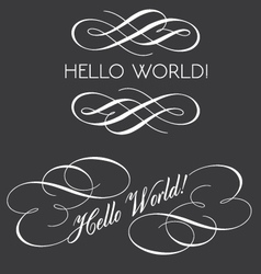 Decorative texts with swirls vector