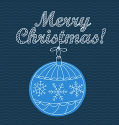 Christmas greeting card with bauble vector