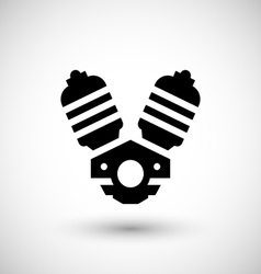 Motorcycle motor icon vector