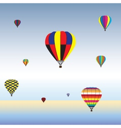 Hot air balloons in air vector