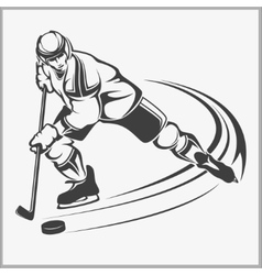 Hockey player - vector