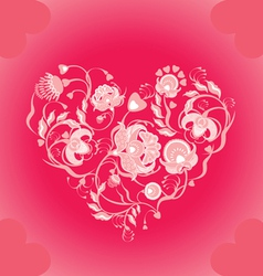 Valentin floral design vector