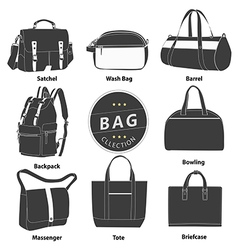 Bag 03 B W 01 vector image