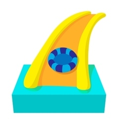 Aquapark slide cartoon icon vector