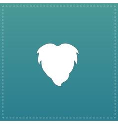 Beard flat icon vector