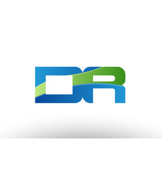 Blue green dr d r alphabet letter logo vector
