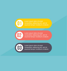 Business infographic step concept style vector