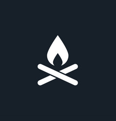 Camp fire icon simple vector