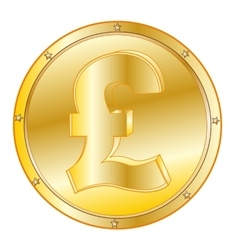 Coin pound sterling vector