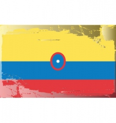 Colombia shipping flag vector
