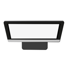 Computer monitor with blank screen icon image vector