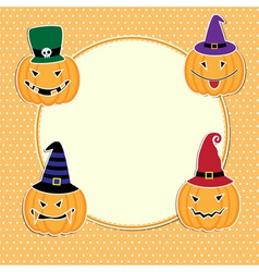 Cute Halloween card vector image
