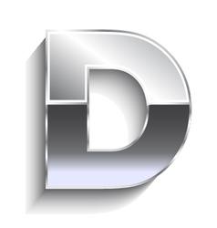 D metal font vector image vector image
