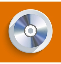 disc icon on orange background Eps10 vector image