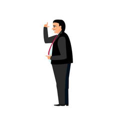 fat boss businessman in suit and tie with a smile vector image vector image