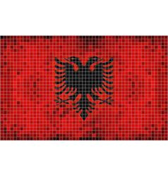 Flag of Albania - mosaic vector image vector image