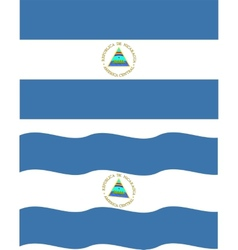Flat and waving Nicaragua Flag vector image vector image