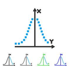 Gauss plot flat icon vector