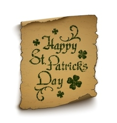 Happy St Patricks Day background template vector image vector image