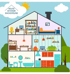 House interior background vector