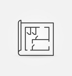 house plan line icon vector image vector image