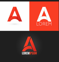 letter A logo design icon set background vector image vector image