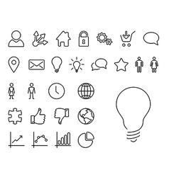Modern thin line icon set vector image vector image