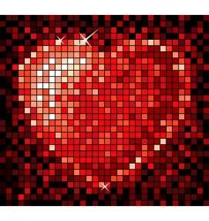 mosaic heart vector image vector image
